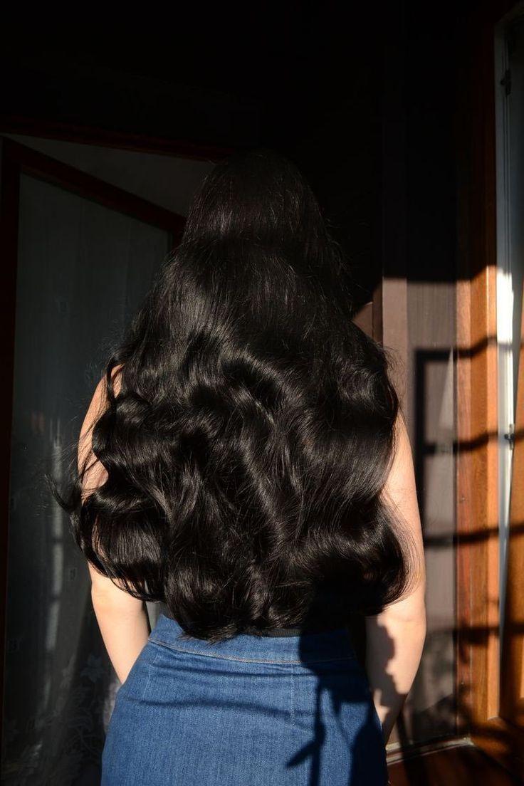 schwarze Haare, #Schwarz #DunkelSchwarzes Haar #Haar