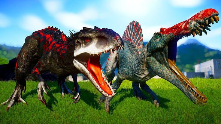 Индоминус рекс против спинозавра фото