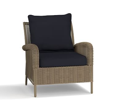 Good Georgia Occasional Chair Cushion Slipcover, Sunbrella(R) Navy · Lounge  FurnitureOutdoor ...