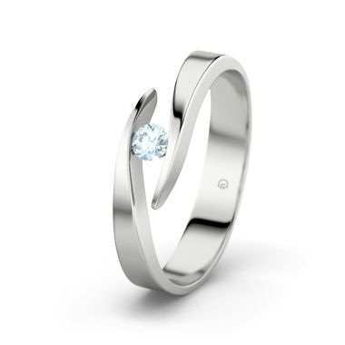 Aquamarine Sterling Silver Ring – Ring with Aquamarine A symbol of eternal love. This beautiful ring is the perfect way to display your care and attention – a sparkling moment designed to last a lifetime.
