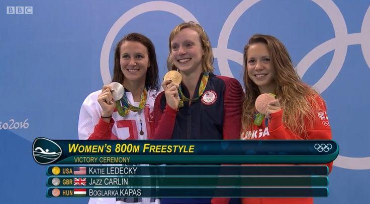 Jazz Carlin 800m freestyle silver