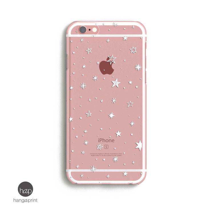 iPhone Case Clear Design, iphone case stars, transparent iphone