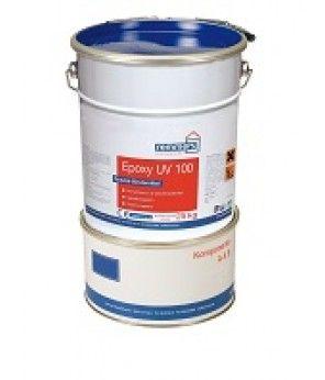 EPOXY UV 100 10 kg Sararma yapmayan, şeffaf, geniş kullanımlı iki bileşenli epoksi reçine  Kullanım Alanları: Astarlama, kaplama ve pulcuk malzemelerinin bağlayıcısı olarak kullanılan, renksiz epoksi malzemedir.  Epoxy UV 100