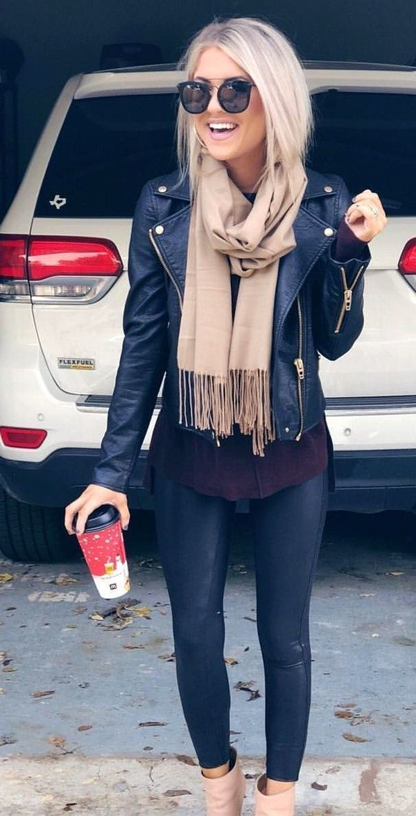 fall #outfits black leather jacket - Sommer Mode | Winter outfit  inspiration, Fashion, 20th clothing