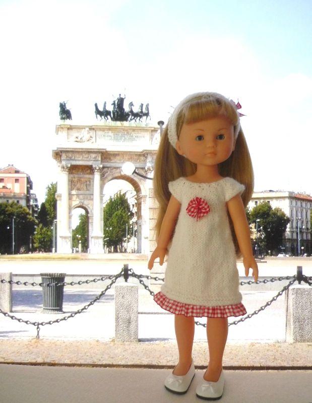 Robe et bandeau pour poupée Chérie: 1) http://marieetlaines.canalblog.com/archives/2015/02/15/30494529.html 2) http://p0.storage.canalblog.com/07/37/1066432/98707380.pdf
