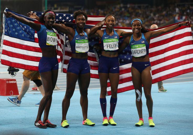 Team USA (English Gardner, Allyson Felix, Tianna Bartoletta