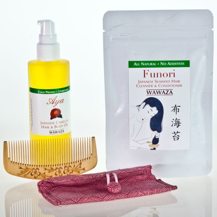 Japanese Hair Care Kit And Wood Comb Say No To Chemicals