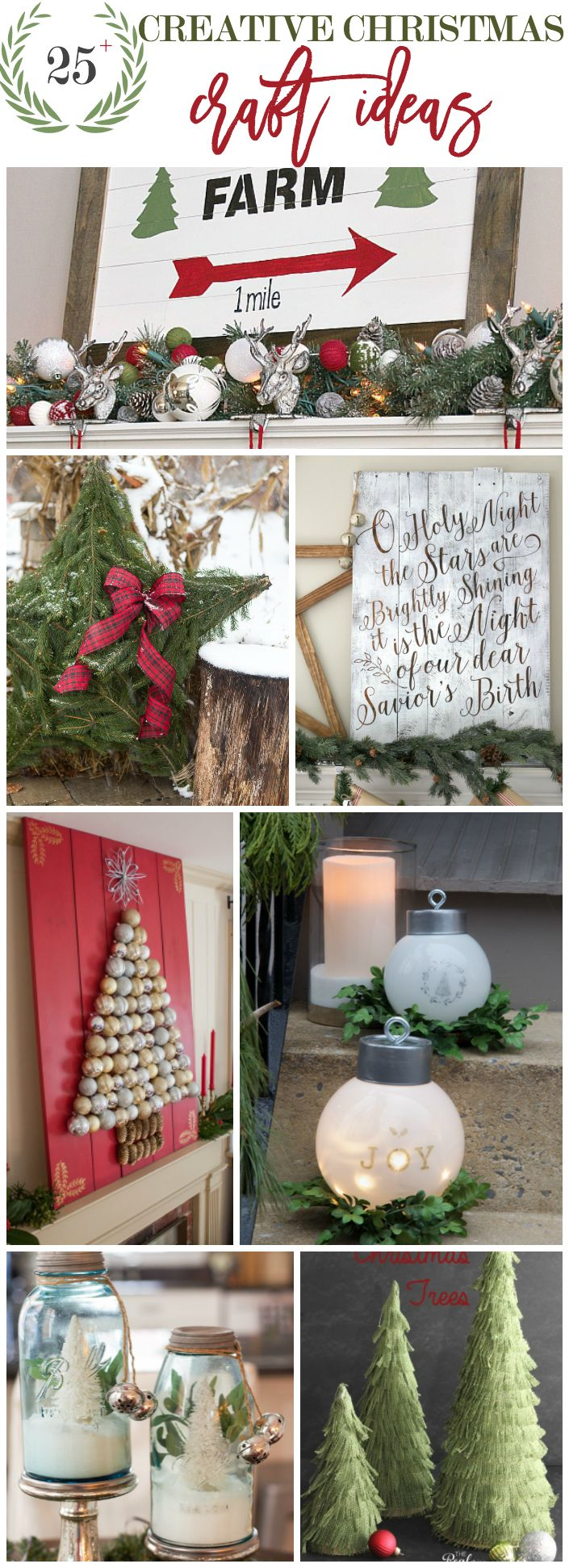 25 Creative Christmas Craft Ideas