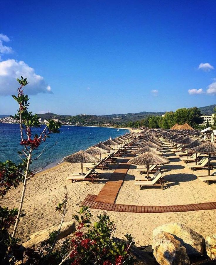 Do you want to enjoy the awarded with beach flag @portocarras' beach?   #PortoCarras #beach #summerishere  #Halkidiki #Sithonia #seaside #beachlife