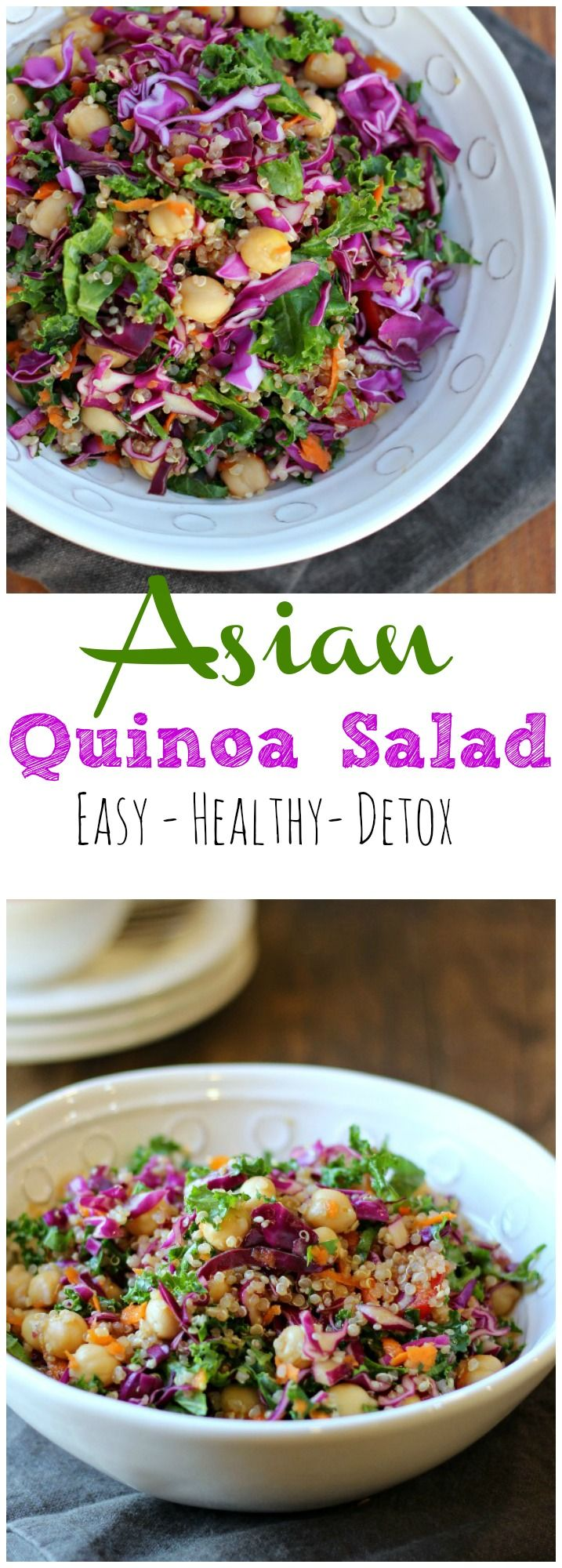 This Asian Quinoa Salad is packed with nutrient rich ingredients, so tasty and fresh you can not turn it down! gardeninthekitchen.com