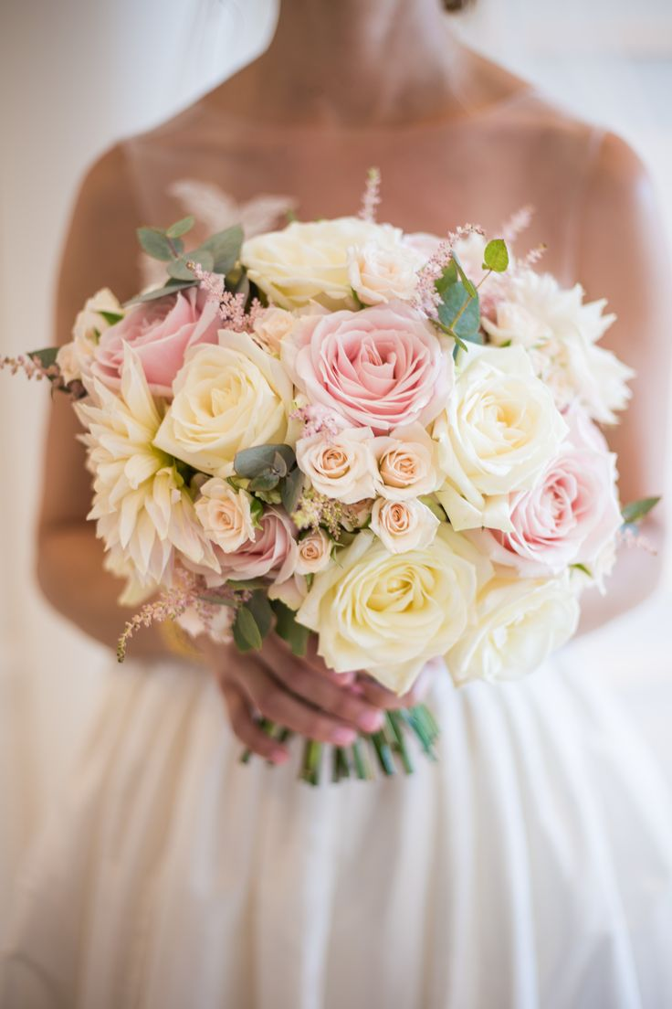 At Azur Flowers, we loved making this Brides soft and romantic bouquet. Of course, we are a little biased as this particular bouquet included the ever fabulous 'Cafe au Lait' Dahlia! We've made no secret of our love for this show stopping flower! Swoon!  AzurFlowers.com Photography by Hannah B Walker Bridal Bouquet Flowers included 'Cafe au Lait' Dahlia, White 'Avalanche' Roses, Pink 'Sweet Avalanche Roses, Pink Astilbe, White Spray Roses and Eucalyptus.
