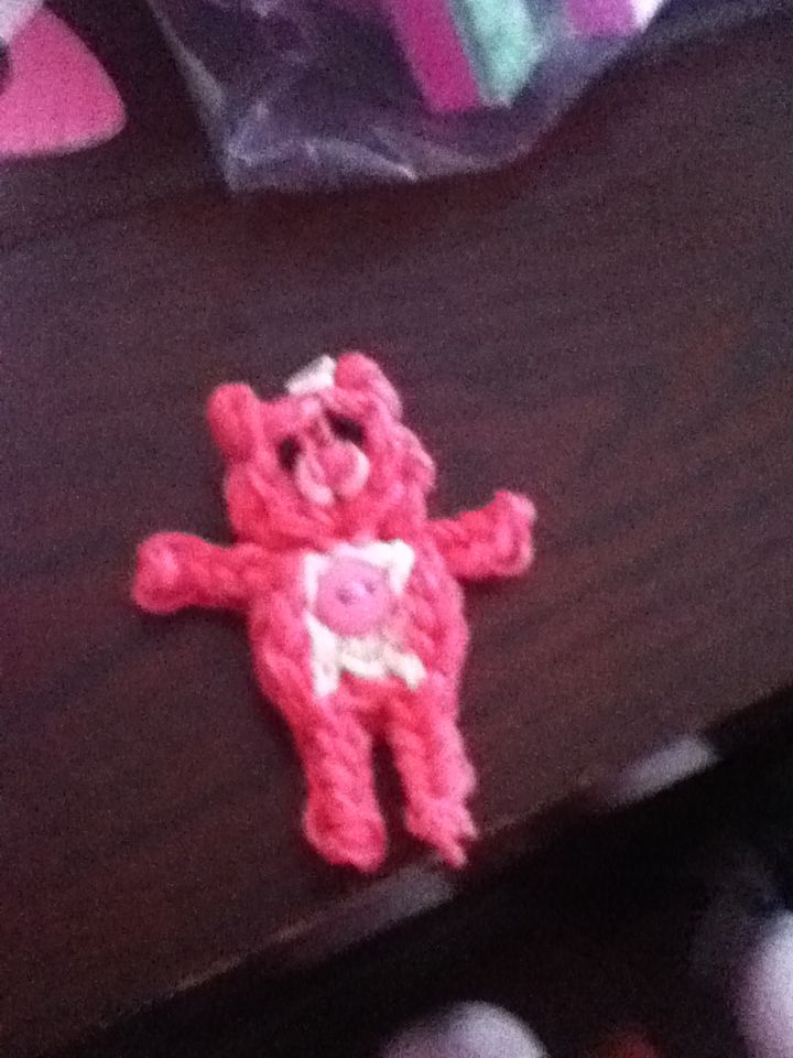 Rainbow loom care bear