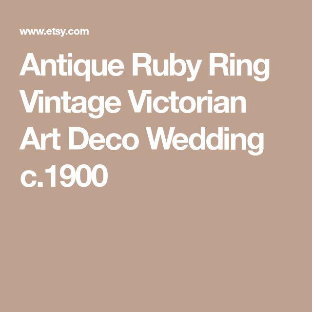 Antique Ruby Ring Vintage Victorian Art Deco Wedding c.1900