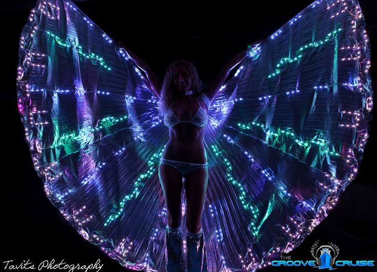 Great Burning Man costume idea for Night Time