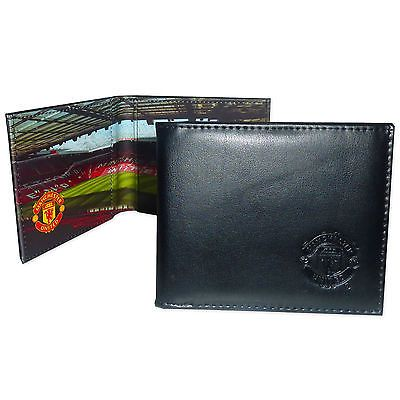 Manchester United Football Club Official Soccer Gift Stadium Wallet Black