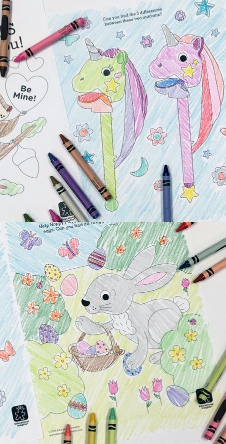 add some coloring to your playtime with our free coloring pages