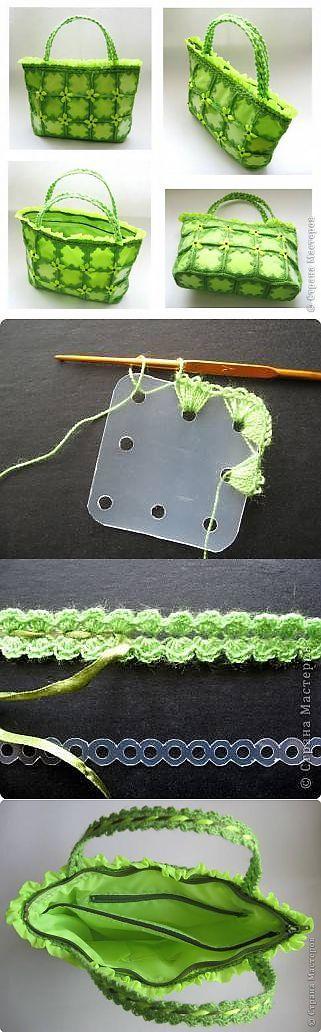 Crochet bag from plastic bottles