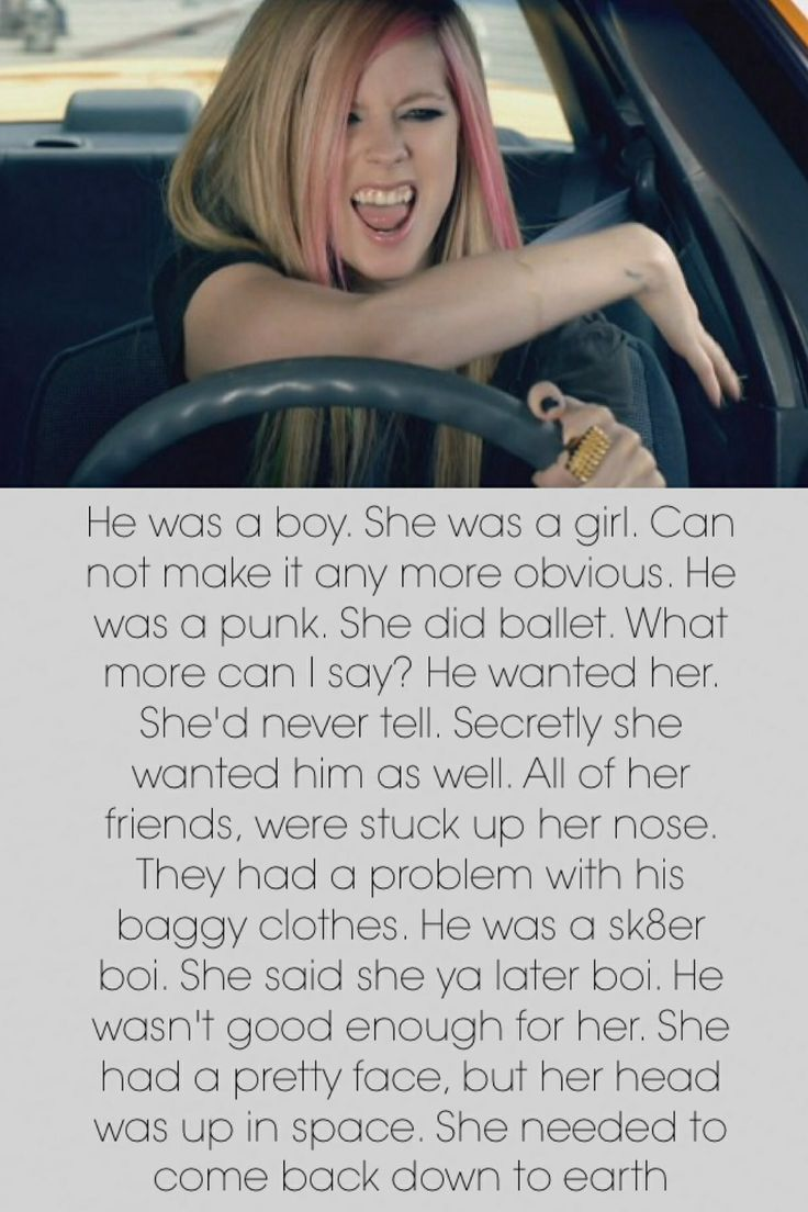 Avril Lavigne• Sk8er Boi luv this song tag if u like it too....(:
