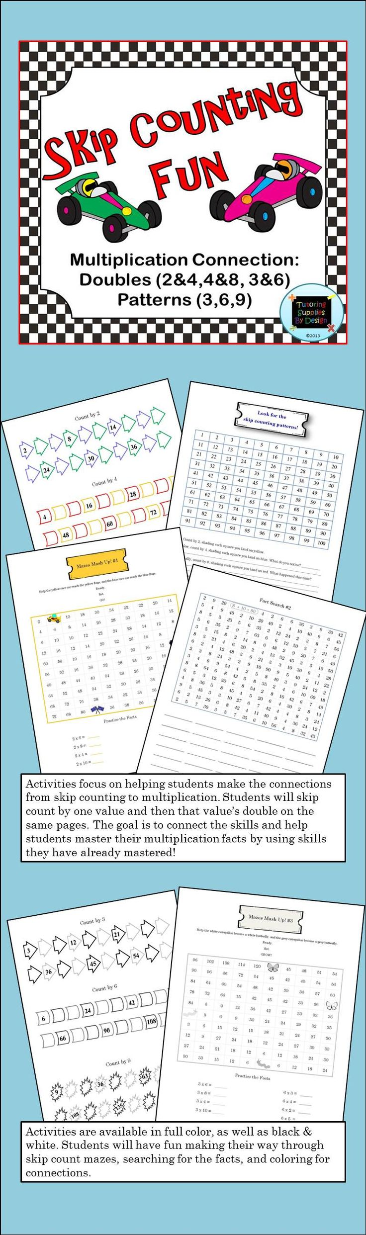 129 best second grade ccss images on pinterest teaching ideas newest skip counting product just released includes doubles connections maze mashups fact fandeluxe Image collections