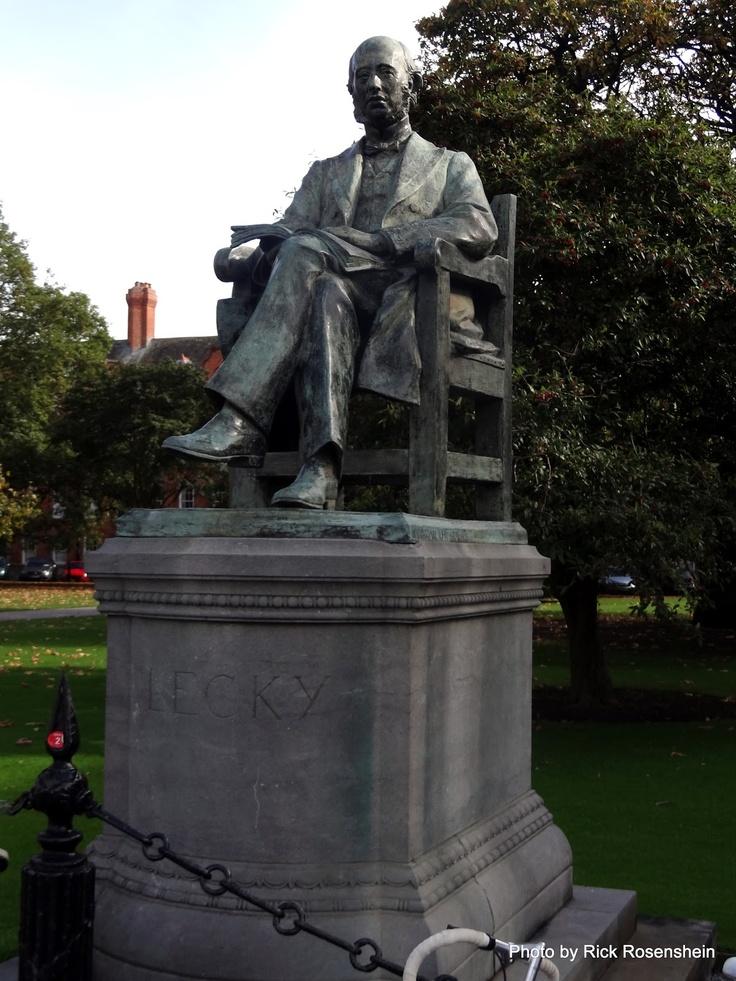 statue of William Edward Hartpole Lecky, 1838-1903, historian and political theorist, Trinity College, Dublin, Ireland