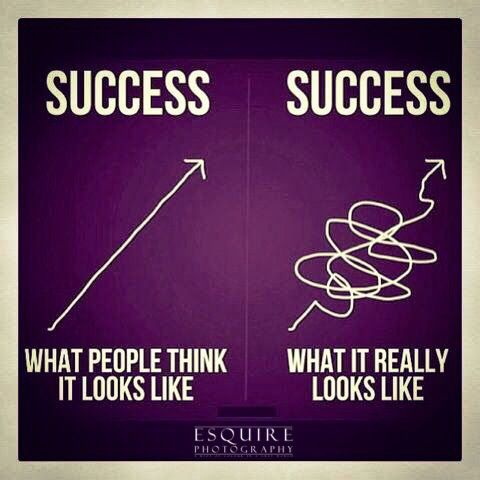 Success is a long, difficult, but worthwhile road