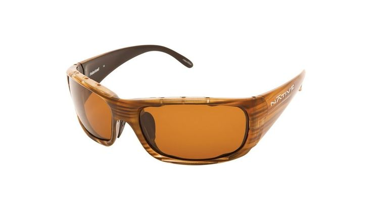 Native Eyewear Bomber Sunglasses, Wood Frame, Brown Lens, Polarized, 134 361 515