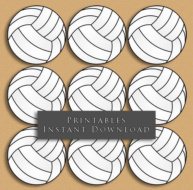 F Printable Volleyball Tags