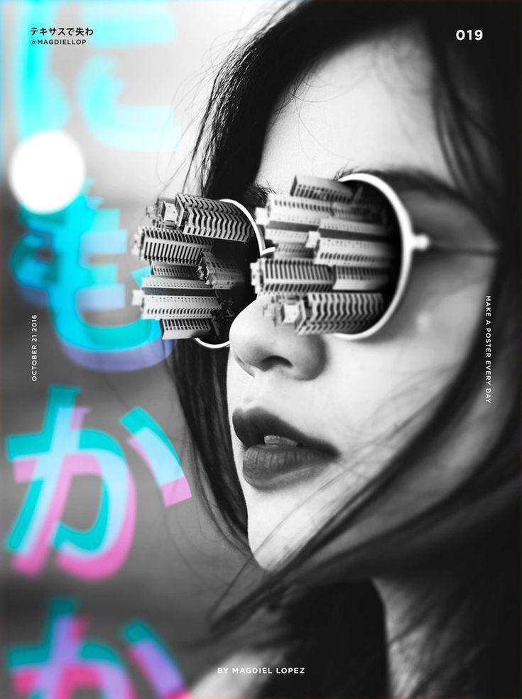 Un Poster Al Dia Segun Madgiel Lopez Poster Design Inspiration Photoshop Design Graphic Design Inspiration