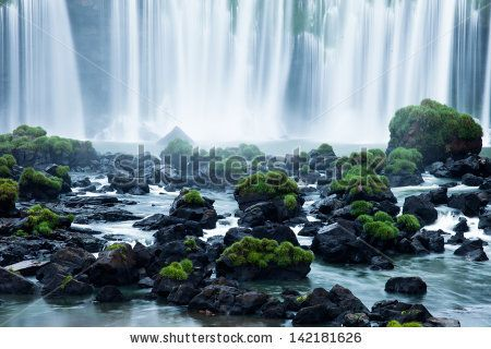 Iguassu Falls, the largest series of waterfalls of the world, located at the Brazilian and Argentinian border, View from Brazilian side by Curioso, via ShutterStock