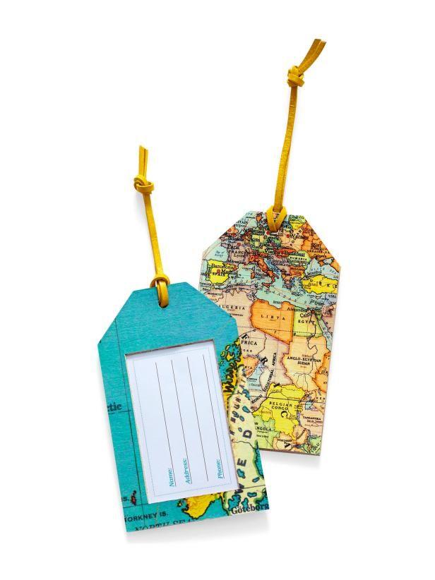 Diy Gift Map Luggage Tags Hgtv Magazineitaly Tripfundraising Ideaspallet