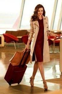 blush coat + oxblood dress