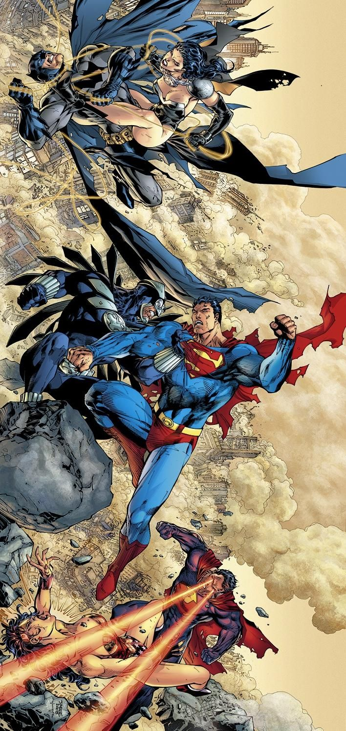 Batman v Superwoman, Superman v Owlman & Wonder Woman v Ultraman by Jim Lee! (DC comics)
