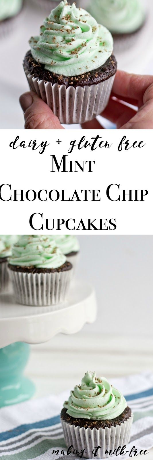 Dairy-free, gluten-free Mint Chocolate Cupcakes recipes with a bit of this crazy, beautiful life sprinkled in.