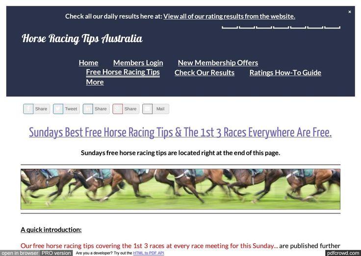 Sundays January 22nd Free Horse Racing Tips