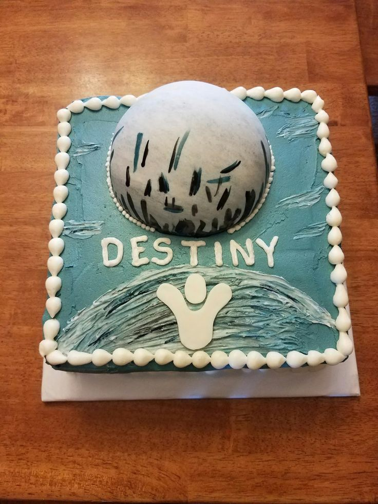 Destiny Video Game Birthday Cake