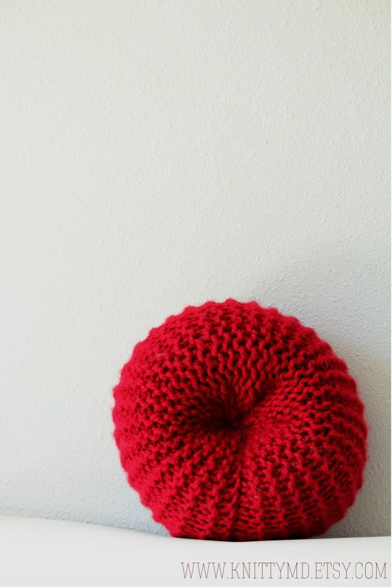 Knit Red Blood Cell Pillow $35