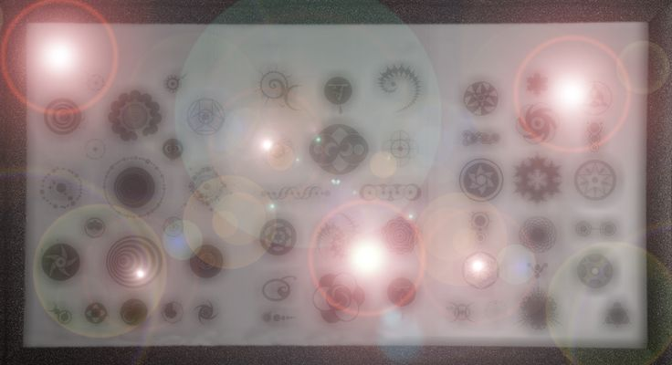 Abstract Thursday, AT 47, from blipfoto, 5-19-16.  'Lens flares over Crop Circles' abstract