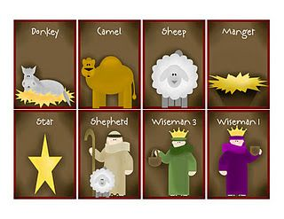 Nativity Memory Game Printable also Nativity story for older kids and toddlers.