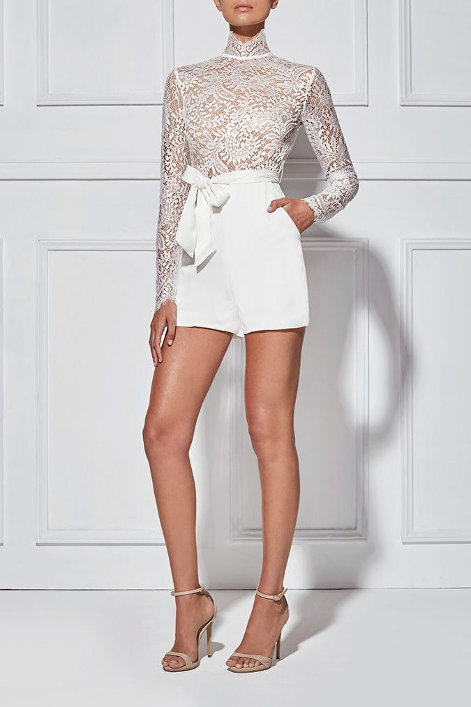 ALISA LACE PLAYSUIT - Playsuits - Shop
