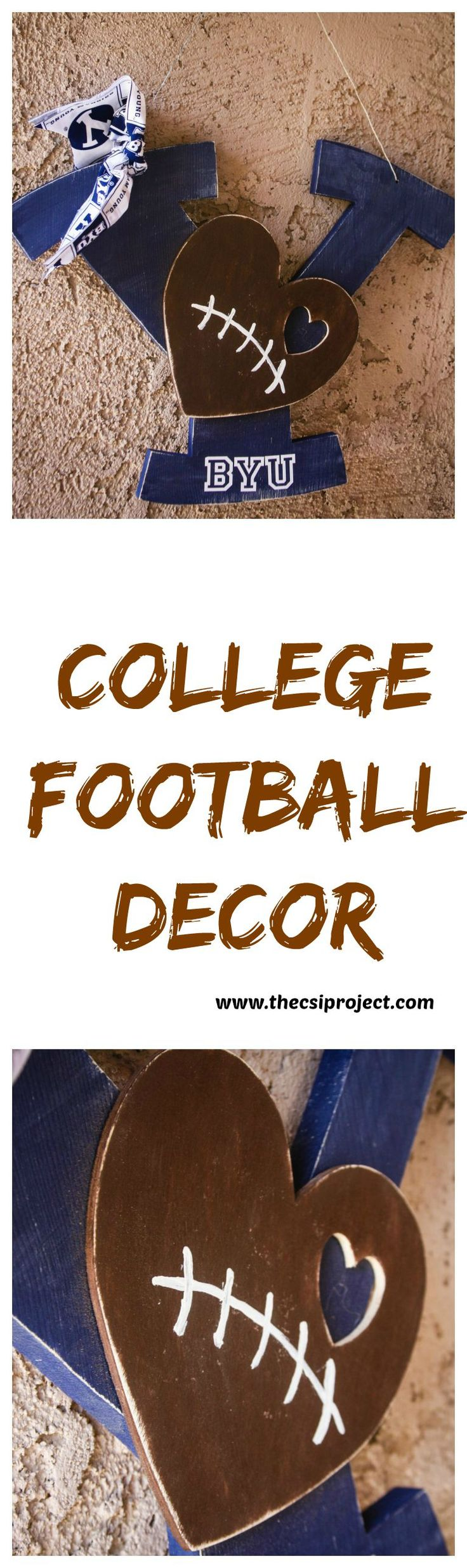 DIY College Football Decor by MichaelsMakers The CSI Project