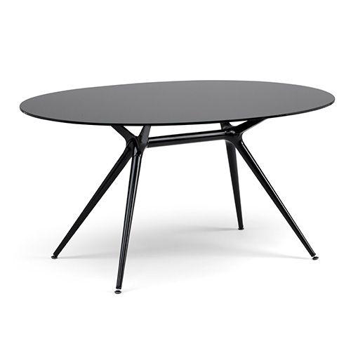la mesa metropolis ovalada es una mesa perfecta para cocinas y comedores donde