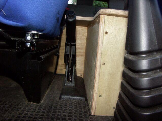 Fitting it around the hand brake