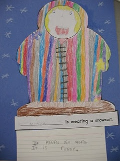 After reading Thomas' Snowsuit...design your own and write about it...