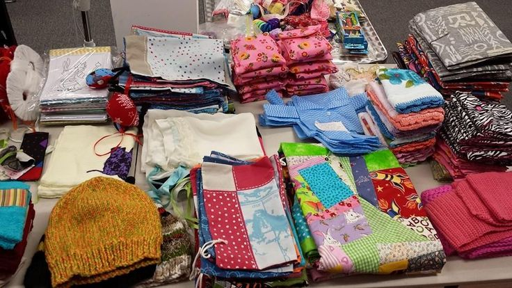 Handmade donations galore! Thank you!