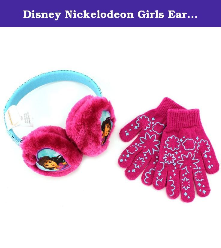 Disney Nickelodeon Girls Earmuffs and Gloves Set (Pink Dora and Friends). Now your sweet girl can be just like her favorite Disney and Nickelodeon characters wearing these earmuff and glove sets! Bundle up with characters like Minnie Mouse or Dora and Friends! Disney and Nickelodeon favorite characters ear muff and glove set is constructed from acrylic and polyester fabric and the headband comes in cool colors and patterns! The perfect outerwear choice for any fan of Disney or Nick…