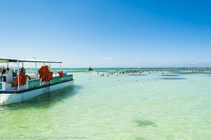 """O passeio de barco pelas Galés encantam qualquer um. Bem que o local é conhecido como o """"Caribe Brasileiro"""". Saiba mais >>> http://www.guiaviagensbrasil.com/blog/gales-de-maragogi-alagoas/"""