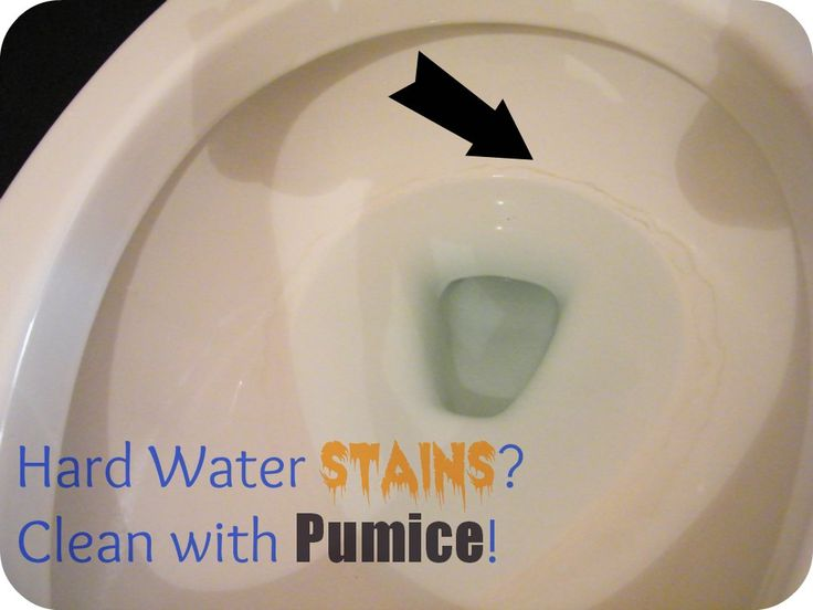 How do you clean hard water stains?