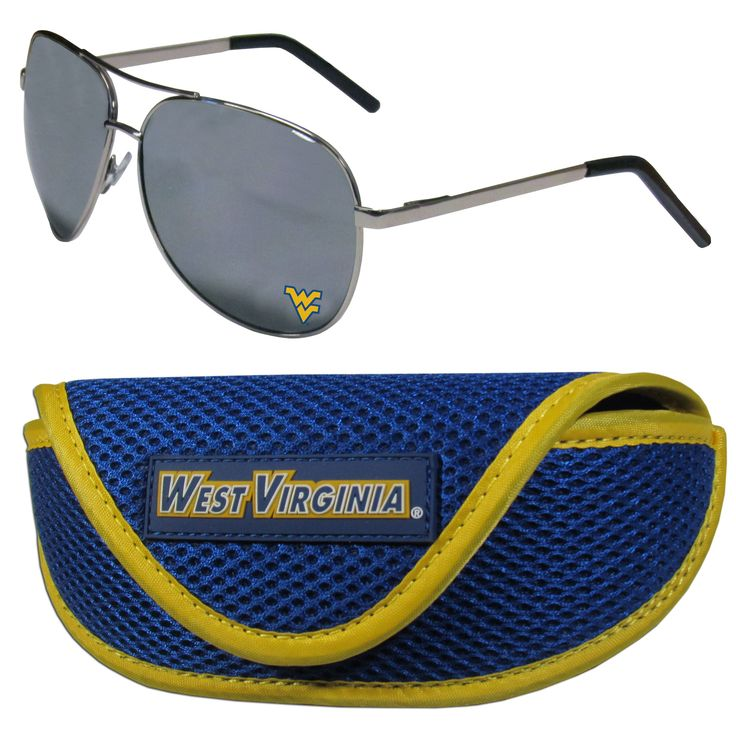 """Checkout our #LicensedGear products FREE SHIPPING + 10% OFF Coupon Code """"Official"""" W. Virginia Mountaineers Aviator Sunglasses and Sports Case - Officially licensed College product Comes with a sport case with microfiber interior and large team logo on the lid that has a velcro closure Maximum UVA/UVB protection for all outdoor activities from sun bathing by the pool or an the beach to blocking those sun rays on game day The high-quality frames feature flexible hinges that help prevent…"""