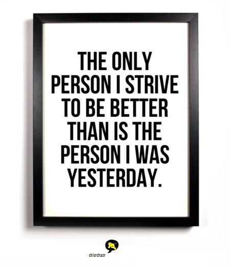 """The only person I strive to be better than is the person i was yesterday"". #chitrchatr #EarlySubscriptionsPromo"