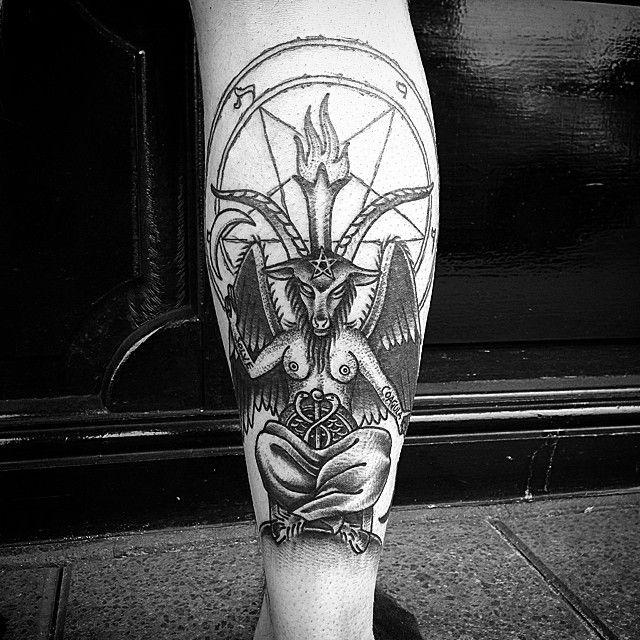 83f2d6f3b Baphomet tattoo by Lee Denham.   Tattoos   Tattoos, Satanic tattoos, Tattoo  designs